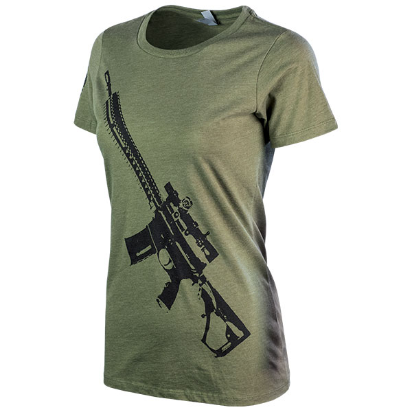 JPG - A565_Stylized_AR_NX8_Black_on_Military_Green_Ladies_F_Left
