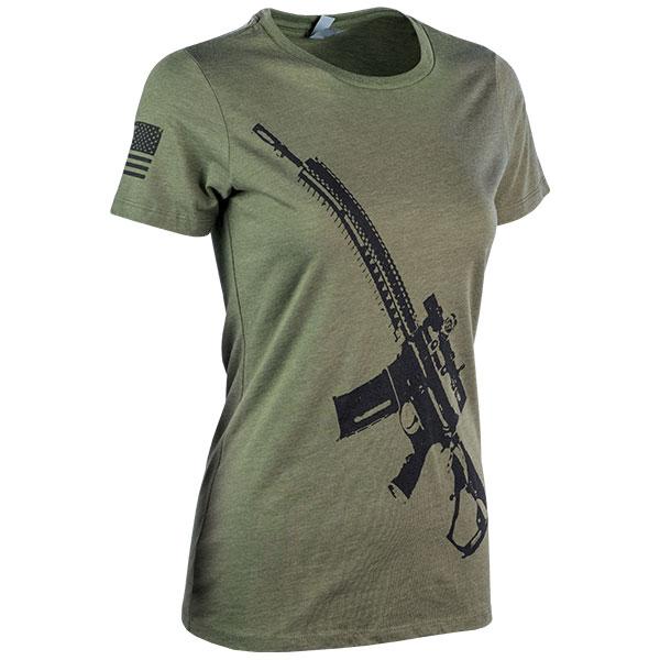 JPG - A565_Stylized_AR_NX8_Black_on_Military_Green_Ladies_F_Right