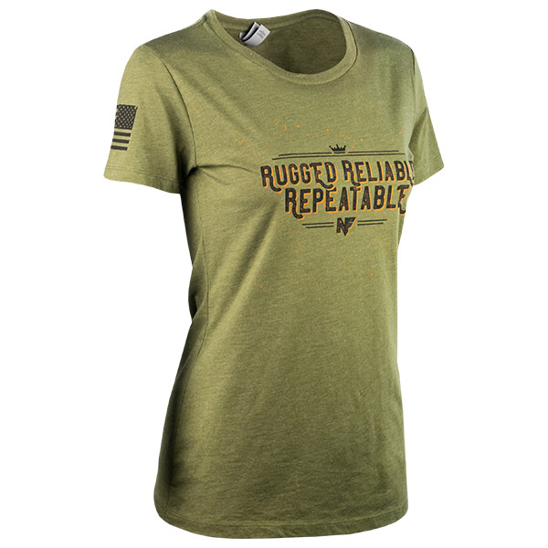 JPG - A583_Rugged_Reliable_Repeatable_Black_on_Military_Green_Womens_F_Right